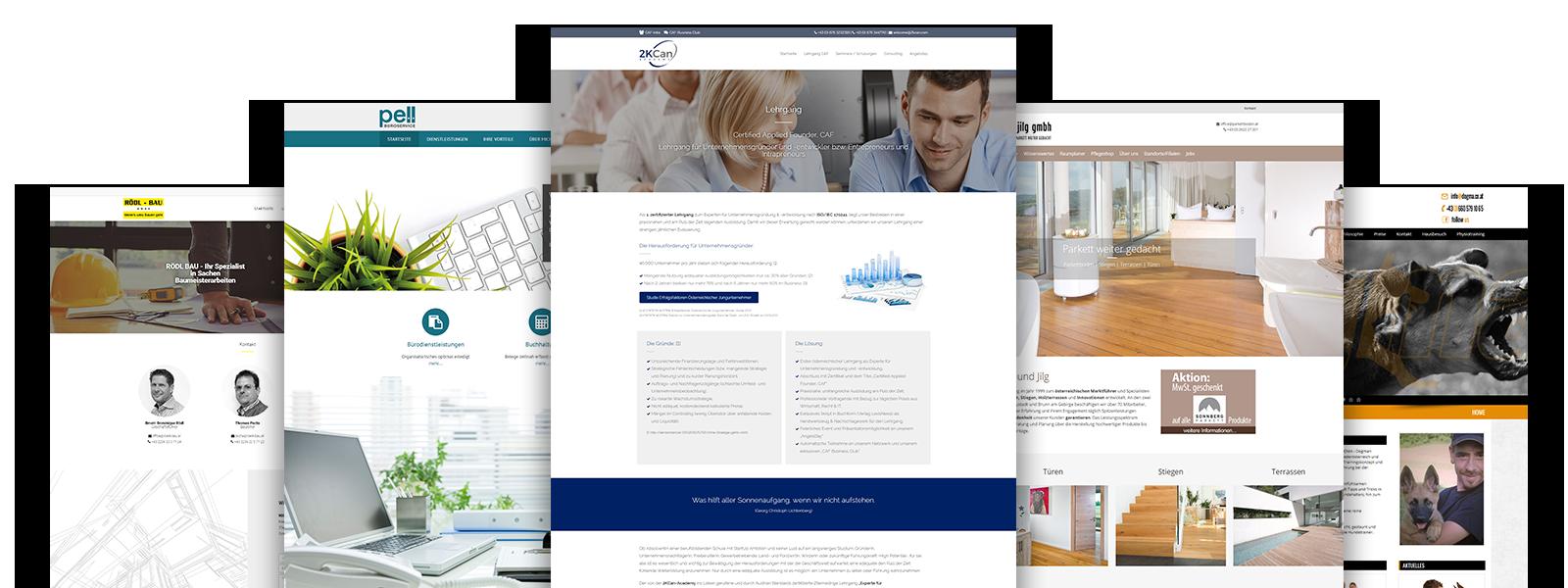 Homepage erstellen Webseite erstellen lassen Referenzen
