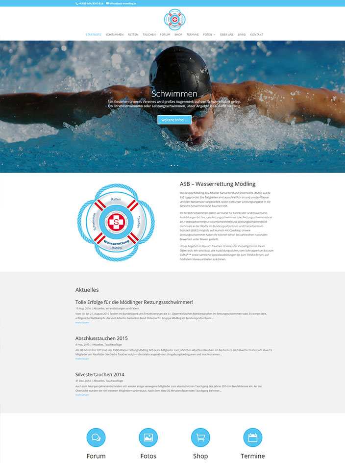 Homepage erstellt ASB Mödling