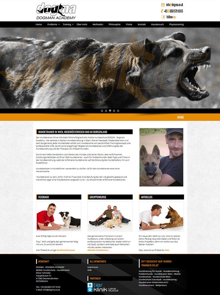 Homepage erstellen Hundetrainer