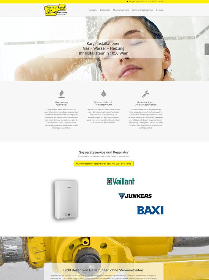 Homepage erstellt Kargl