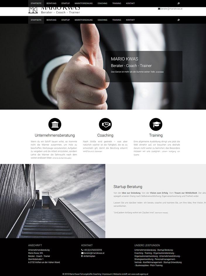 Homepage erstellt Berater