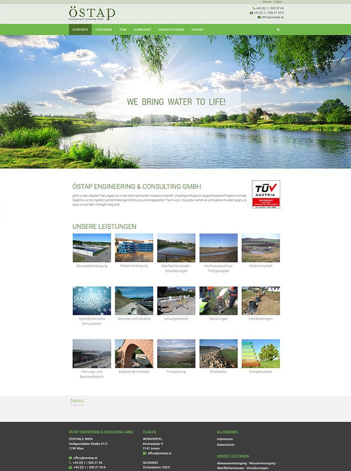 Homepage erstellen Wien ÖSTAP
