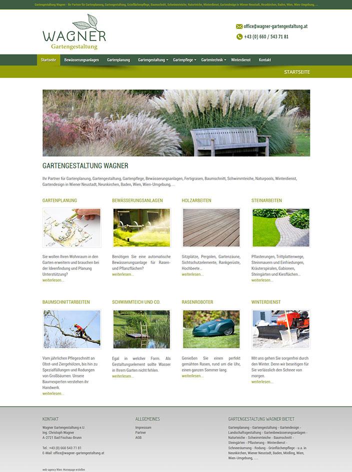 Webseite erstellen Gartengestaltung